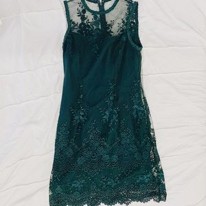 Lacey Green Dress